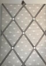Hand Made Fabric Notice Board In A Star Fabric