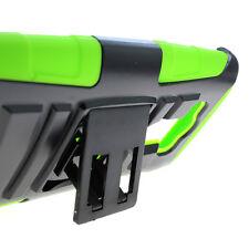 For LG G3 (2014) Green Black Hybrid Case + Belt Clip Holster Cover