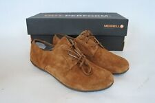 New Merrell Womens Mimix Link Oxford Walking Shoe Laces Brown Suede 5 M US 35