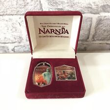 C S Lewis Disney Chronicles Of Narnia Keyring & Pin Badge Collectors Edition