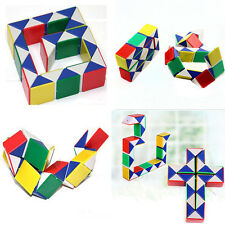 Magic Ruler Cube Twist Folding Snake Puzzle Kid Educational Toy 24 Square Block