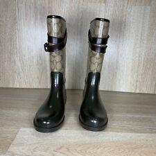 Coach Rain Boots Q7723/A00593 Size 8 Brown
