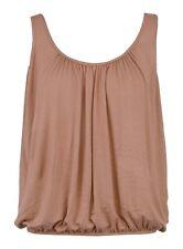 BNWT Women's Vest Top Loose Fit Elasticated Waist Sleeveless T Shirt