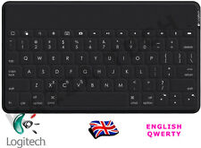 Logitech KEYS To Go Regno Unito QWERTY Bluetooth Tastiera Nero per iPad iPhone di Apple TV