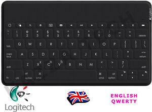 Logitech Keys To Go UK QWERTY Bluetooth Keyboard Black For iPad iPhone Apple TV