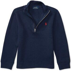 NWT Boys Ralph Lauren Half Zip Sweater French Navy Blue M (10-12)