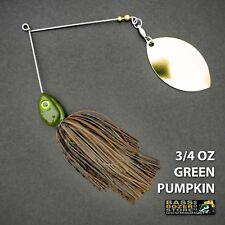 Bassdozer spinnerbaits LONG ARM OKLAHOMA 3/4 oz GREEN PUMPKIN spinner bait lures