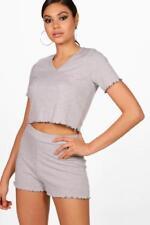Boohoo Short Patternless Nightwear for Women