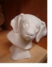 Beagle Dog Bust ready to Paint Ceramic Bisque animal Head