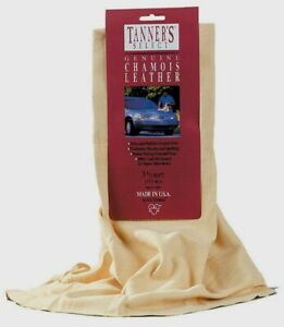 """Acme Tanner's Select Genuine LEATHER CHAMOIS 5"""" L x 6"""" W Dries Polishes TS60T"""