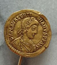 Antique Valentinian Late Rome Byzantine Gold Solidus on Pin