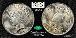 1923 Peace Dollar PCGS MS-64 CAC