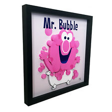 Mr Bubble Funny Bathroom Decor Wall 3D Art Washroom Sign Artwork Print Soap