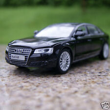 Sound&Light 1:32 Model Cars Audi A8L Toys Alloy Diecast Collection&Gifts Black