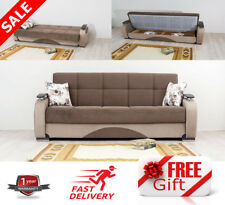 New Luxury Turkish SOFA BED Set With Storage 3 Seater Fabric