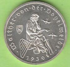 3 Reichsmark Vogelweide 1930 A Polierte Platte proof sehr selten nswleipzig