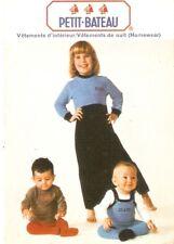 Petit-Bateau Vêtements de nuit Homewear Publicité format carte postale Enfants