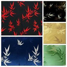 Faux Silk Brocade (Bamboo Pattern) Jacquard Damask Kimono Fabric Material BL9