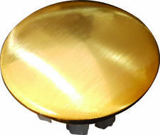 OVERFLOW BASIN SINK CAP COVER 24KT BRUSHED GOLD