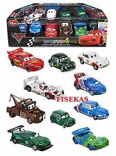 Disney Store Cars 2 Die Cast WGP Racer + Crew Chief 10 Car Playset McQueen NEW