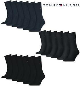Tommy Hilfiger Mens Socks TH Cotton Blend Classic Crew Dress Sock 6 Pack