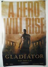 Gladiator Original Advance S/S 1Sh 27 X 40 Movie Poster Russell Crowe 2000