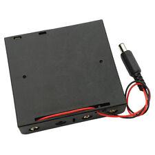 18650 Battery Holder Plastic Case Storage Box Black With Wire DC power plug