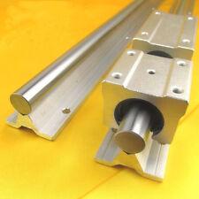 2X SBR16 500mm  bracket Linear RAIL aluminum cylinder support + 4pc SBR16 BLOCK