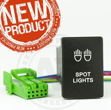 NEW Toyota Hilux SPOT LIGHT SWITCH Factory Fitting design 2015-ON BLUE LED LIT