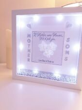 Mum Son Daughter Mothers Day Light Up Led Frame Personalised Gift Birthday