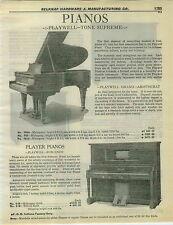 1932 PAPER AD Playwell Tone Supreme Grand Piano Burgundy Player Arabic Dunbar