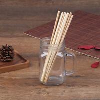 5Pcs Pailles À Boire Écologiques Pailles D'Ustensiles Ménagers En Bambou JE