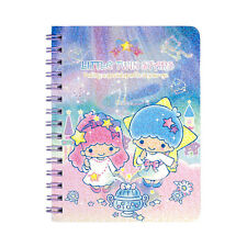 Sanrio Little Twin Stars Laser Cover Mini Spiral Notebook 9-6398-20 TS Reg Ship