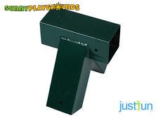 90° GREEN SWING SET SEAT ACCESSORIES SINGLE A-FRAME METAL SWING CORNER  4x4