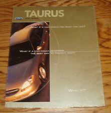 Original 2000 Ford Taurus Foldout Sales Brochure Poster 00