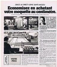 PUBLICITE ADVERTISING 104 1976 SAINT MACLOU votre moquette au centimètre