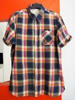 SCOTCH & SODA Men's Short Sleeve Button Front Plaid Cotton Shirt size Medium
