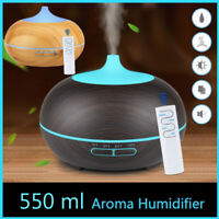 550ml USB Humidifier Aroma Diffuser remote control 7 Colors LED cool mist maker
