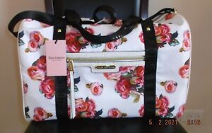 JUICY COUTURE WHITE / FLORAL ROSE PRINT ROSIE WEEKENDER / DUFFLE BAG  NWT