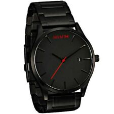 MVMT Mens Watch CLASSIC BLACK LINK 45 MM Black Face Stainless Japan Tracking