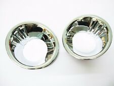 1 Pair Chrome fog light lamp Cover trim For Nissan Navara D40 2005 - 2013