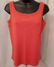 Rafaella Womens Orange Tank Top Shirt Blouse Size M