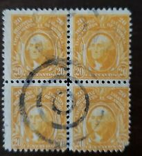 Philippines stamp #297 used hinged block of 4