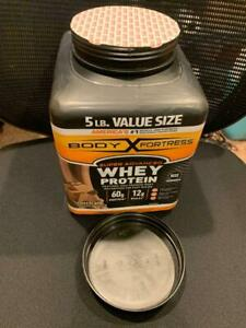 Body Fortress Super Advanced Whey Protein Powder.  Chocolate, 5LB, BBY 06/22