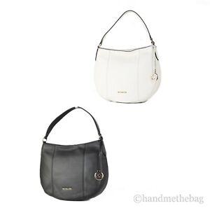 Michael Kors Brooke Large Pebbled Leather Hobo Shoulder Bag Purse Tote Handbag