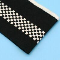 Check Stretch Cuff Rib Fabric Trim Edge Knit Leg Arms Jersey Sewing Cloth Crafts