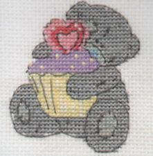DMC Me To You Tatty Teddy Mini Cross Stitch Kit  Cute Cupcake