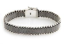 Men's Silver Bracelet 'The Hero' Woven Sterling 925 Handmade NOVICA Bali