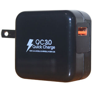 Wall Charger QC3.0 Quick Charge USB AC QC2.0 Compatible Galaxy, Note, LG, HTC