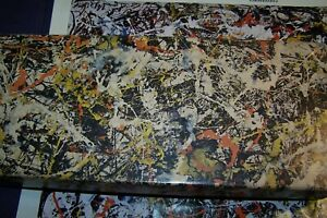 COMPLETE Vtg. Springbok CONVERGENCE #M25 Jackson Pollock 1964 340+pcs VERY RARE!